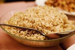 talerz z ryżem