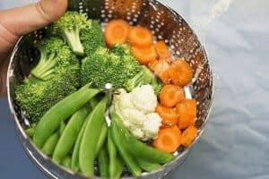 warzywa w durszlaku