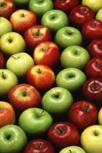 różnokolorowe jabłka