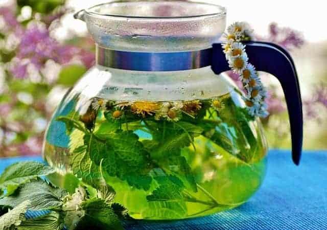 herbata ziołowa w dzbanku