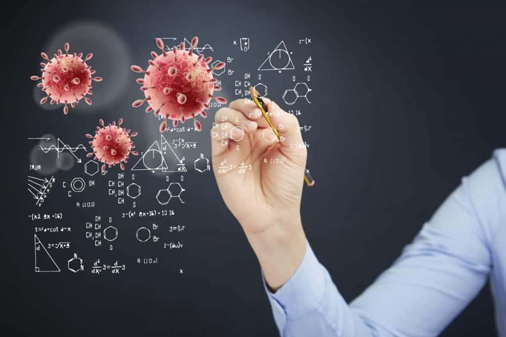 rysowanie wzorów chemicznych na tablicy