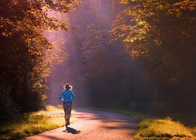 biegaczka, bieganie po parku