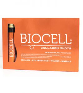 Biocell collagen shots, fiolki na cere